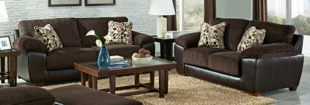 Pinson Collection 43982PCSTLKIT1CHO 2-Piece Living Room Sets with Stationary Sofa  and Loveseat in Chocolate and