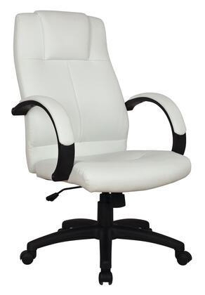 92171 Basil Office Chair with Pneumatic Lift in White PU