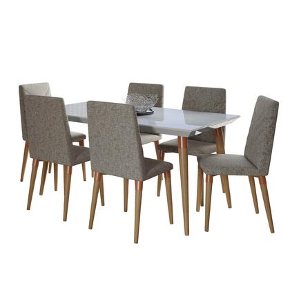 2-108852109253 Utopia 7-Piece Dining Room Set with 63