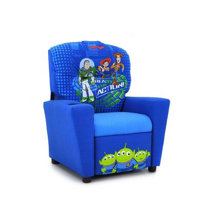 Juvenile 13001DTS3  inch Mixy inch  Kid's Recliner with Cup Holder  Ottoman  Soft Densified Fiber Upholstery and Hardwood Frame: Disney's Toy Story