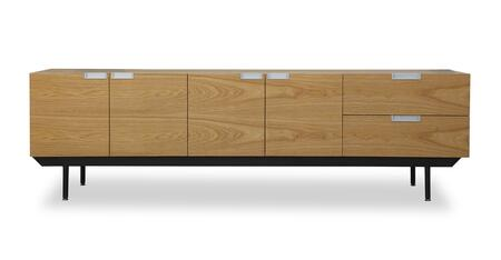 STO-SB-STRUCTURE-NAT Structure Mid-Century Modern Sideboard Credenza  Natural