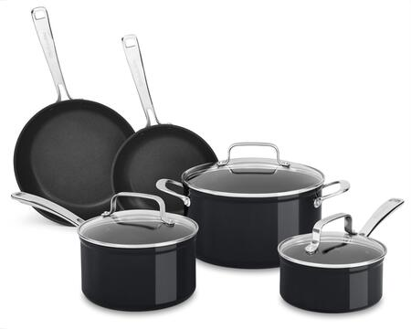 KC3H1S08BE Hard Anodized Non-Stick 8-Piece