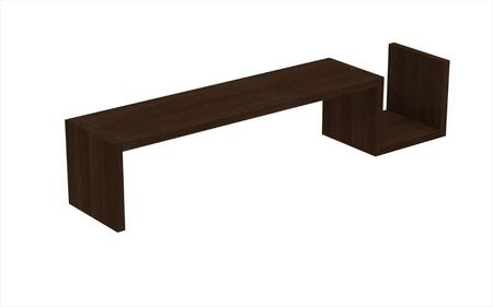 Zemmur Collection 44AMC49 48 inch  Floating Shelf with 1 Long and 1 Small Useable Shelf Space in