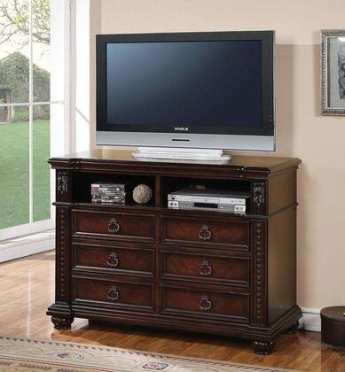 Daruka Collection 21317 TV Console in Distressed Cherry