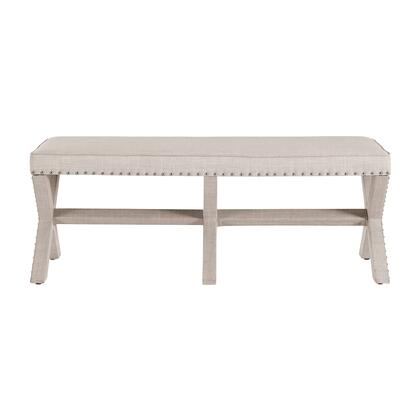 DSD153604619 Beige Upholstered 'X' Base Bed Bench