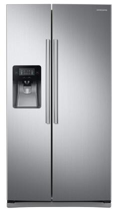 "RS25J500DSR 36"" Side-By-Side Refrigerator with 25 cu. ft. Capacity  External Filtered Water and Ice Dispenser  LED Display  6 Temperature Sensors  and Door"