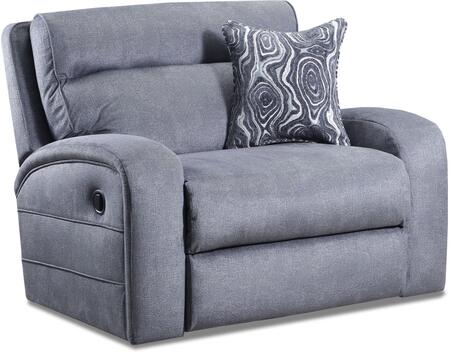 """57002-195_Phantom_Steel_51""""_Cuddler_Recliner_with_Split_Back_Cushion_and_Track_Armsn_in"""