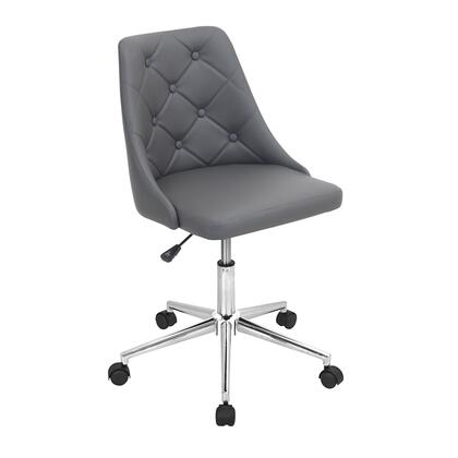 OFC-MARCHE GY Marche Height Adjustable Modern Office Chair with Swivel in