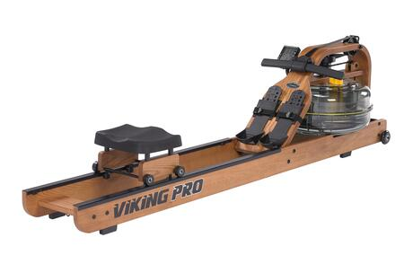 Horizontal Series VIKPRO Viking Pro Indoor Rower with American Ash Construction  Adjustable Fluid Resistance  Multi-Level Computer with USB Port  Durable Belt