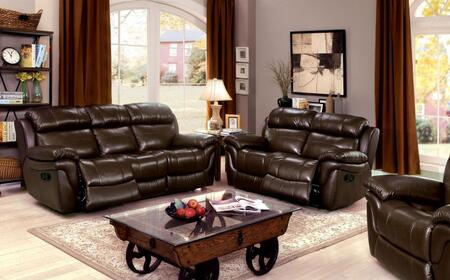 Justine Collection CM6784-SLR 3-Piece Living Room Set with Motion Sofa  Motion Loveseat and Recliner in