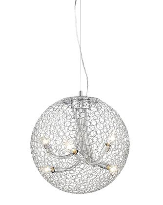 Saatchi 175-18 18 inch  6 Light Pendant Novelty  Whimsicalhave Steel Frame with Chrome finish in
