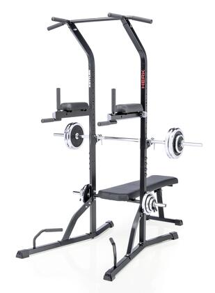 7707-760 Power Tower with Fold-down Backrest  Height Adjustable Bar Rest and Multi Stations with No-Slip Coated