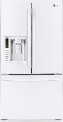 LG - 24.1 Cu. Ft. French Door Refrigerator with Thru-the-Door Ice and Water - White LFX25974SW