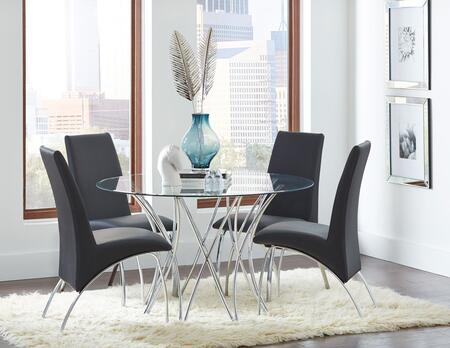 Cabianca Collection 106921DT-4SC-120802 5-Piece Dining Room Set with Round Dining Table and 4 Side Chairs in