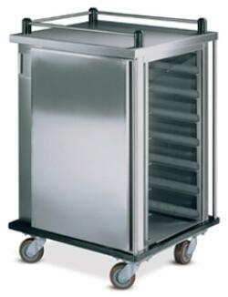 DXICT20 Value-Line Tray Delivery Cart  Single Compartment  Enclosed Style  Non Pass Thru  20 Tray Capacity  5 inch  Casters  and Stainless Steel