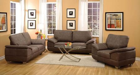 Corliss Collection 5167GSLC 3-Piece Living Room Set with Sofa  Loveseat and Chair in Gray
