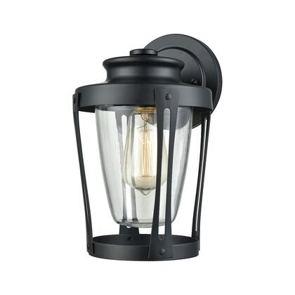 460901_Fullerton_1_Light_Outdoor_Wall_Sconce_in_Matte_Black_with_Clear