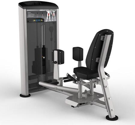 E-4982 Platinum Series 9508 Abductor/Adductor Machine with 150 lbs. Incremental Weight Stack  Military Grade Cables and High-Tech Oval Tubing in Black and