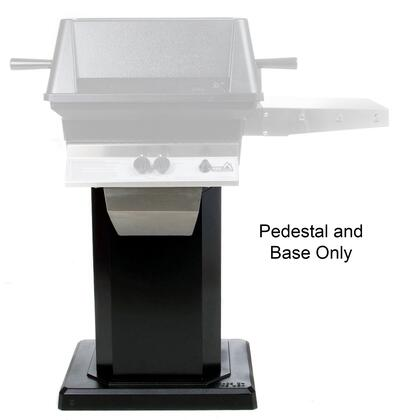 ABPEDANB Mounting Kit with ABPED Black Powder Coats Pedestal and ANB Flat Patio