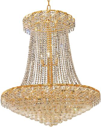 VECA1G36SG/EC Belenus Collection Chandelier D:36In H:42In Lt:22 Gold Finish (Elegant Cut