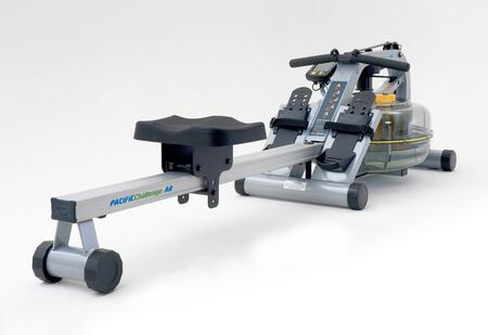 Horizontal Series PACAR Pacific Challenge Adjustable Resistance Indoor Rower with Height Adjustable Footplates  Delrin Low Friction Seat Rollers  Ergonomic