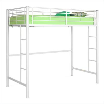 BTOLWH Twin Metal Loft Bed -