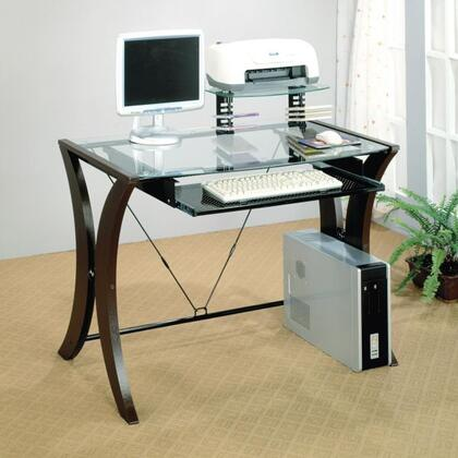 800445 Division Table Desk with Glass Top by
