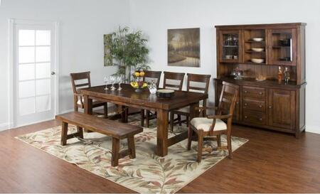 Tuscany Collection 1316VMDT6SC2AC 9-Piece Dining Room Set with Dining Table  6 Side Chairs and 2 Arm Chairs in Vintage Mocha