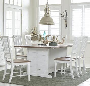 Shutters Collection D884-10-61 7-Piece Dining Room Sets with Rectangular Dining Table and 6 Side Chairs in Light Oak and Distressed