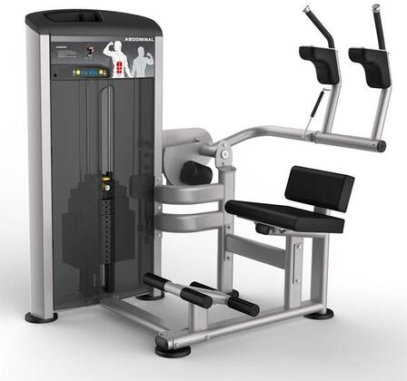 E-4985 Platinum Series 9514 Abdominal Machine with 200 lbs. Incremental Weight Stack  Military Grade Cables and High-Tech Oval Tubing in Black and