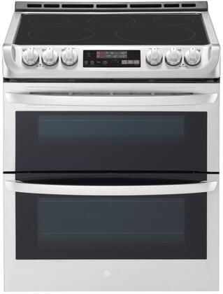 LTE4815ST Slide-In Electric Range with Double Oven  7.3 cu. ft. Capacity  ProBake  and Self EasyClean  in Stainless