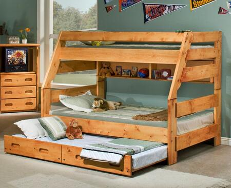 3544720-4739-T Twin Over Full Bunk Bed with Trundle