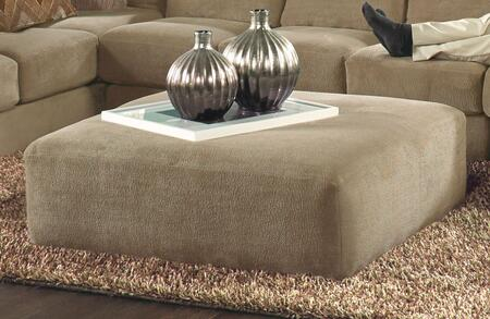 Malibu Collection 3239-12 2668-26 40 inch  Cocktail Ottoman with Chenille Fabric Upholstery and Piped Stitching in