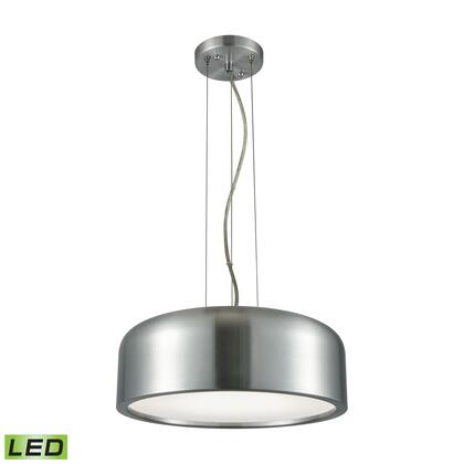 LC2101-N-98 Kore 1 Light LED Pendant In Aluminum With Acrylic