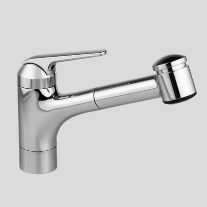10.061.032.127 Single-hole  single-lever kitchen mixer with swivel spout and pull-out spray in Splendure Stainless
