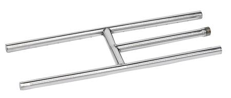 SS-H-12 304 Stainless Steel H-Style Burner  12 inch  x