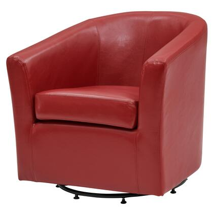 Hayden Collection 193012B-67 Chair with 360 Degree Swivel  Stitching Details and Bonded Leather Upholstery in