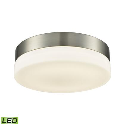 FML4050-10-16M Holmby 1 Light Round Flushmount In Satin Nickel With Opal Glass -