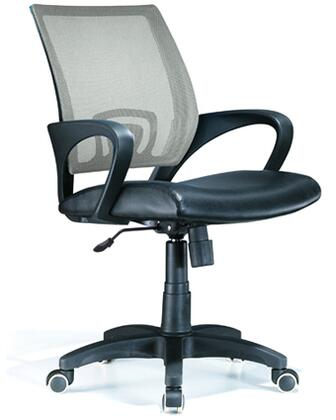 OFC-OFFCR SV Modern Officer Height Adjustable Modern Office Chair with Swivel in