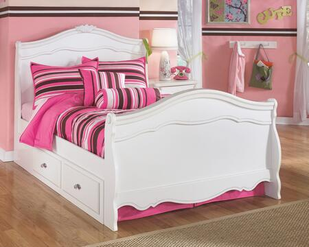 Exquisite Collection B188-84N/87N/88N/60/B100-12 Full Size Sleigh Bed with Underbed Storage Drawers  Molding Details  Rosettes and Satin Nickel Hardware in