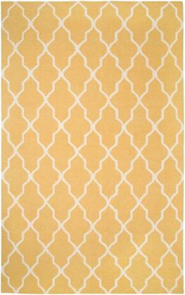 Swisg241700940203 Swing Sg2417-2 X 3 Hand-woven Dhurrie New Zealand Wool Blend Rug In Yellow  Rectangle