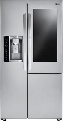 LG 26.1 Cu. Ft. Side-by-Side Refrigerator Stainless steel LSXS26396S