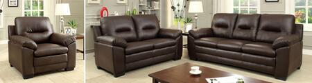 Parma Collection CM6324BR-SLC 3-Piece Living Room Set with Stationary Sofa  Loveseat and Chair in