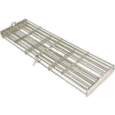 "BBQ08892 17"""" Rotisserie Basket with Sturdy Clasp for Safe Flipping in High Grade 304 Stainless"" 356261"