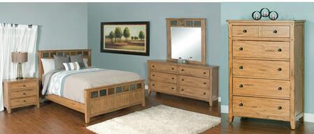 Sedona Collection 2334roqbdmnc 5-piece Bedroom Set With Queen Bed  Dresser  Mirror  Nightstand And Chest In Rustic Oak
