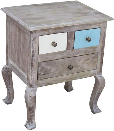 Perri 13422 26 inch  Shelf with Curved Legs  Three Drawers and Simple Pulls in