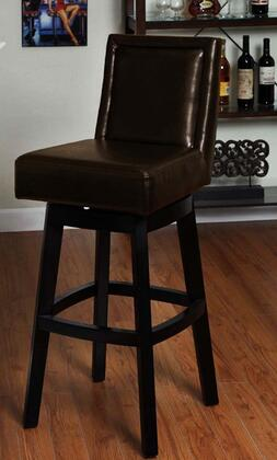 LC4048BABR26 Wayne Swivel Barstool In Brown Bonded  Leather 26 seat