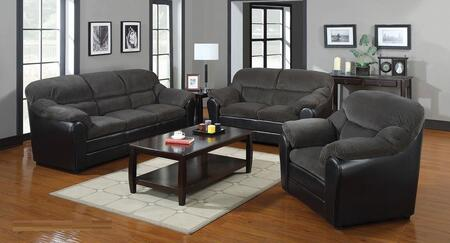 Connell Collection 15955SET 3 PC Living Room Set with Sofa + Loveseat + Armchair in Olive Grey and Espresso