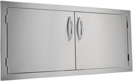 SODX2AD42 Built-in Deluxe Double Door with .375 inch  Self-Rimming Trim Bezel  Raised Reveal Design  Easy to Gasp Handles and Premium Stainless Steel