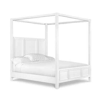 B2304-76 Clearwater Collection Complete California King Poster Bed in White